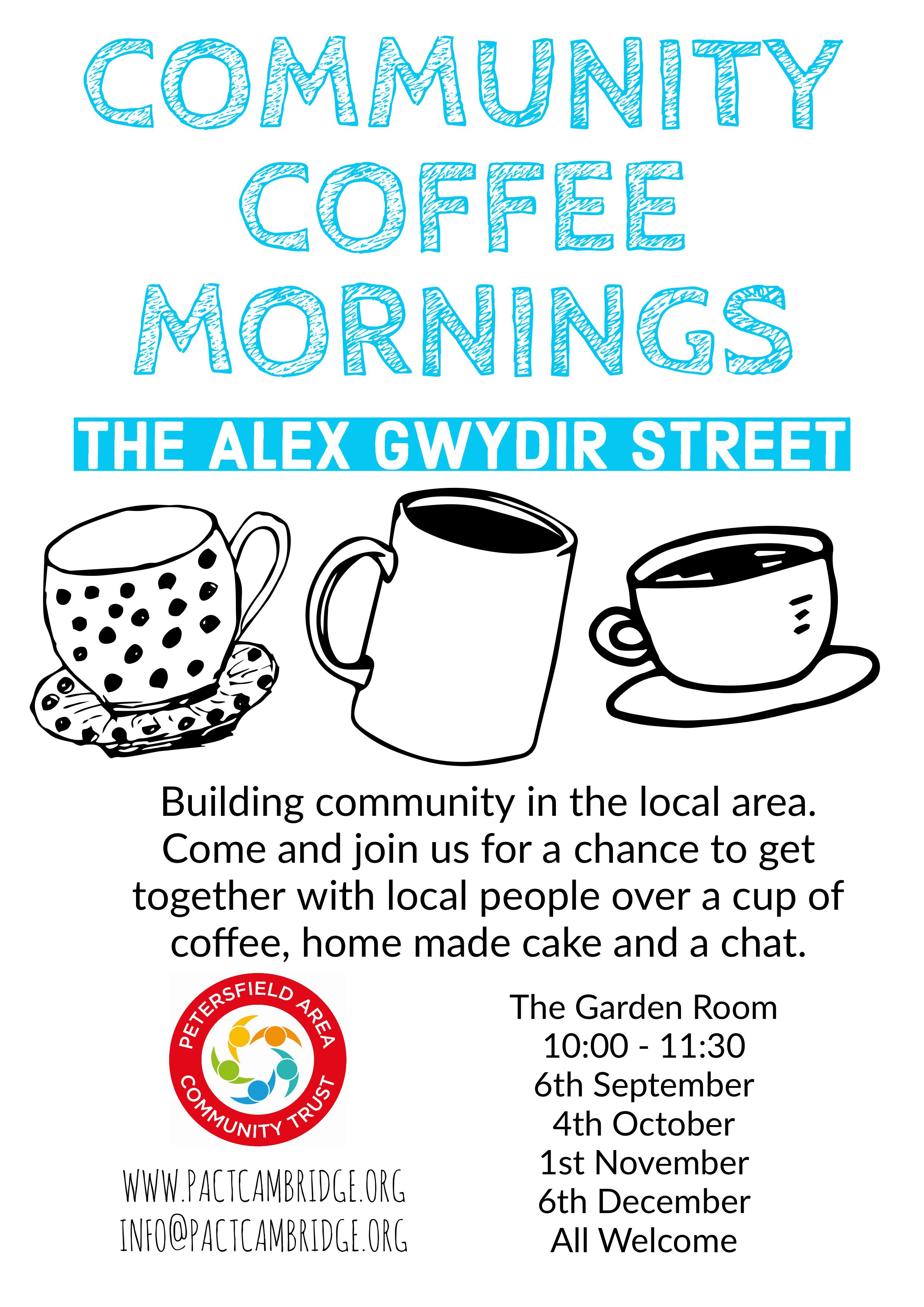 Coffee Mornings Petersfield Area Community Trust