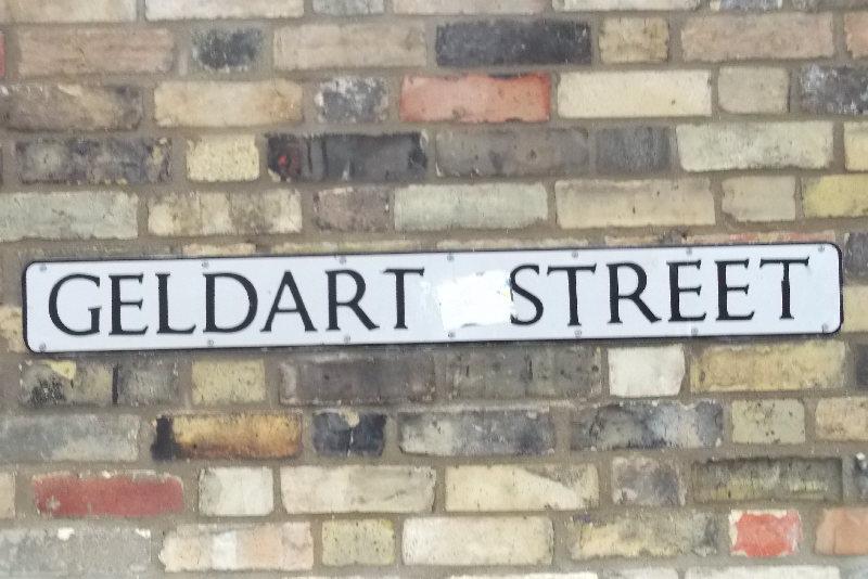 Geldart Street sign - Seb