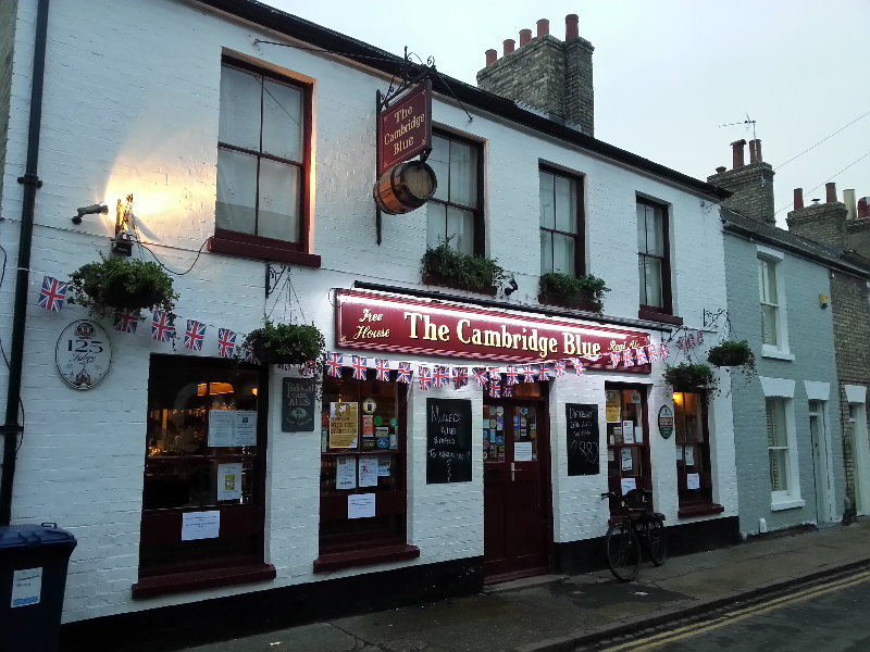The Cambridge Blue pub, Gwydir Street