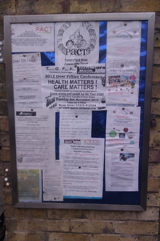 PACT noticeboard by Millennium Garden - Simone