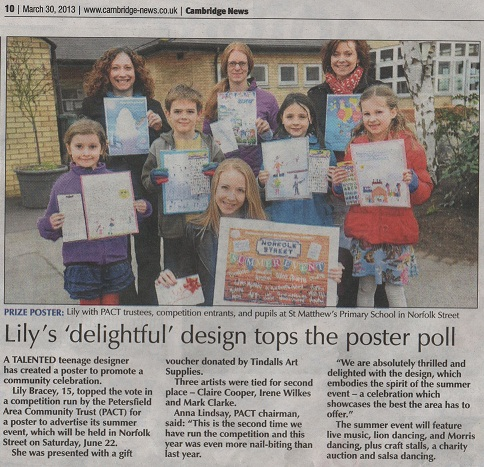 PACT poster winner in Cambridge News