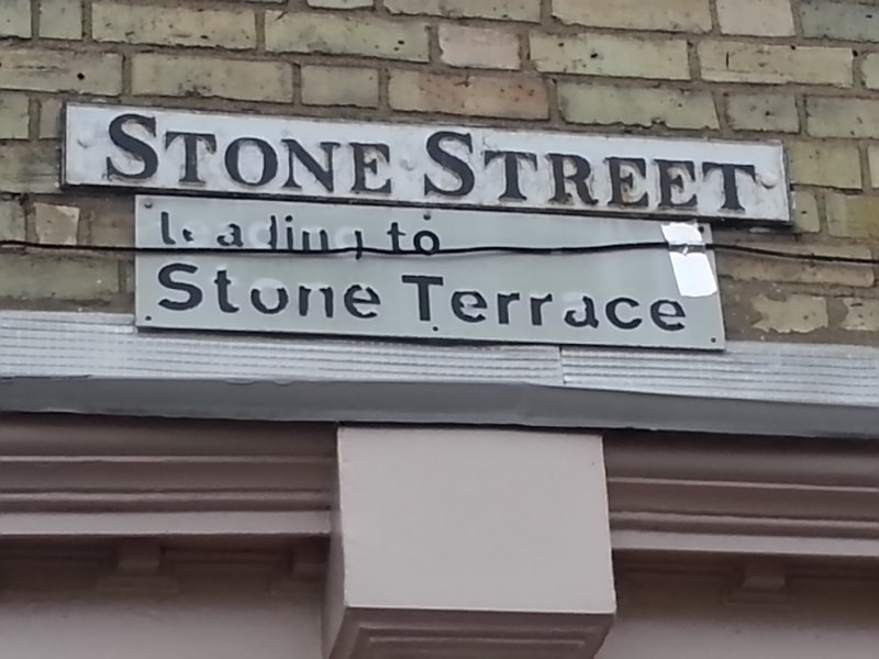 Stone Street sign - Matt